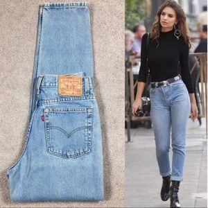 Vintage Levi's High Waisted Slim Fit Tapered Leg